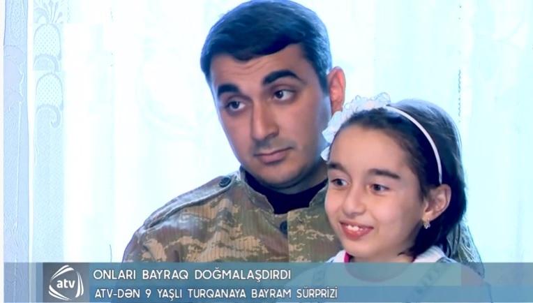 Yaşar Türkazərin qızının əsgərə göndərdiyi bayraq tarixə düşdü – Video